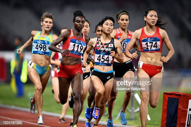 Wang Chunyu of China competes during Women's 800m Final on day ten of the Asian Games on August 28 2018 in Jakarta Indonesia