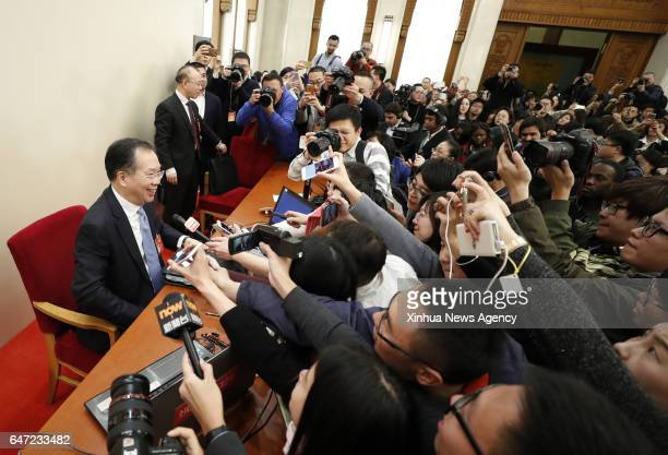 BEIJING MARCH 2 2017 Wang Guoqing spokesperson for the fifth session of the 12th Chinese People's Political Consultative Conference National...