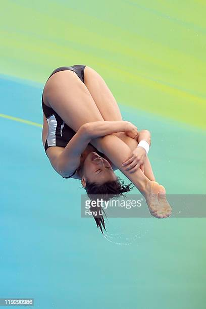 Wang Han of People's Republic of China competes in the Women's 1m Springboard preliminary round during Day Two of the 14th FINA World Championships...