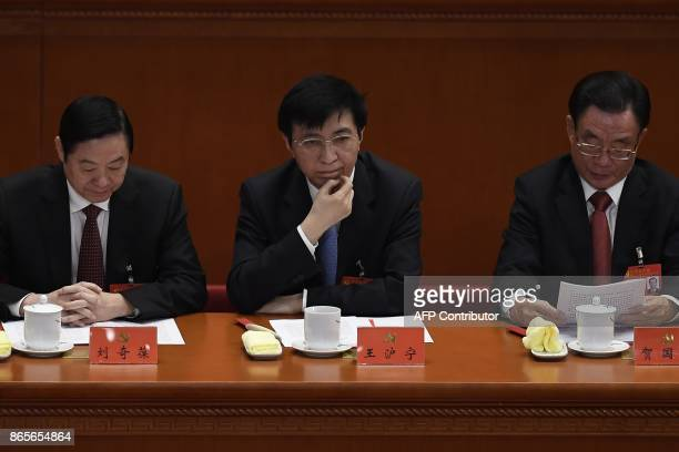 Wang Huning a member of the Political Bureau of the CPC Central Committee attends the closing of the 19th Communist Party Congress at the Great Hall...