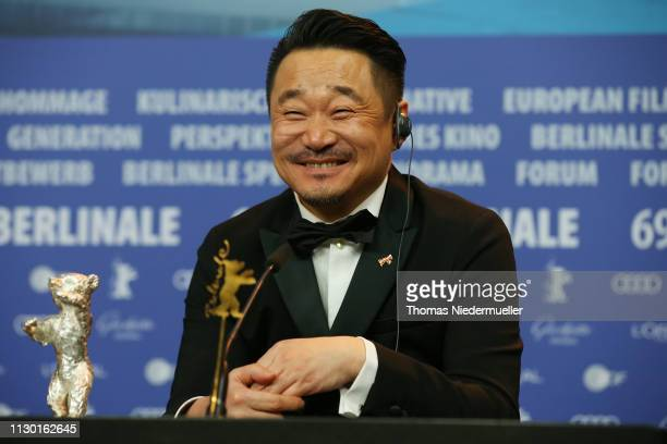 Wang Jingchun winner of the Silver Bear for Best Actor for So long My Son attends the award winners press conference during the 69th Berlinale...