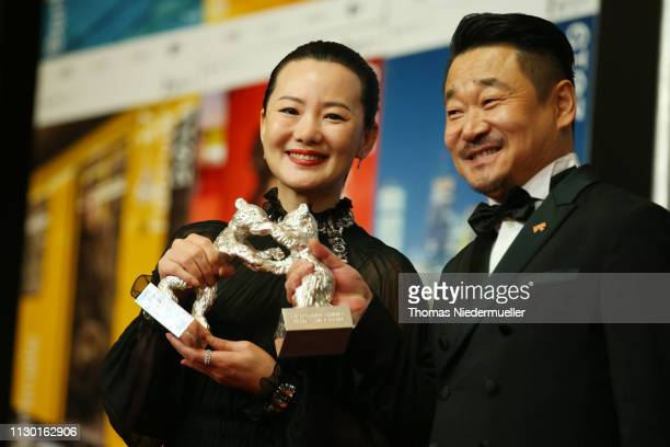 "Wang Jingchun, winner of the Silver Bear for Best Actor for ""So long, My Son"" and Yong Mei, winner of Silver Bear for Best Actress for ""So long, My..."