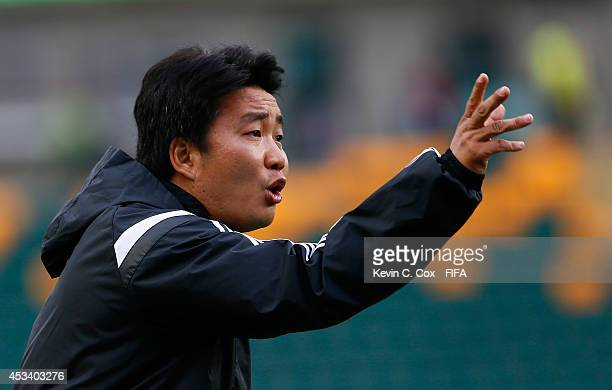 Wang Jun of China PR during the FIFA U20 Women's World Cup Canada 2014 match between China PR and Germany at Commonwealth Stadium on August 8 2014 in...