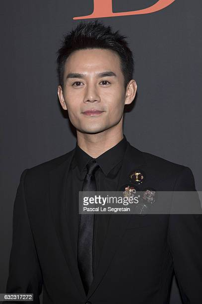 Wang Kai attends the Dior Homme Menswear Fall/Winter 20172018 show as part of Paris Fashion Week on January 21 2017 in Paris France