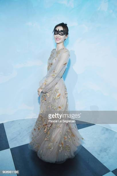 Wang Likun attends Le Bal Surrealiste Dior during Haute Couture Spring Summer 2018 show as part of Paris Fashion Week on January 22 2018 in Paris...