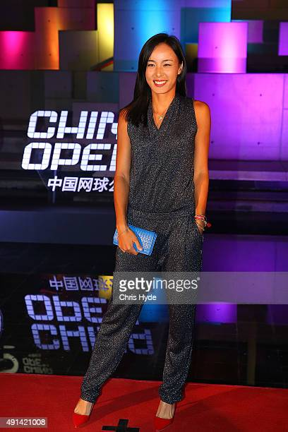 Wang Qiang arrives at the 2015 China Open Player Party at The Birds Nest on October 5 2015 in Beijing China