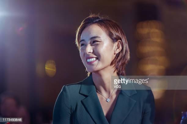 Wang Qiang of China attends player party on day one of 2019 ICBC Credit Card Zhengzhou Women's Tennis Open on September 9 2019 in Zhengzhou Henan...