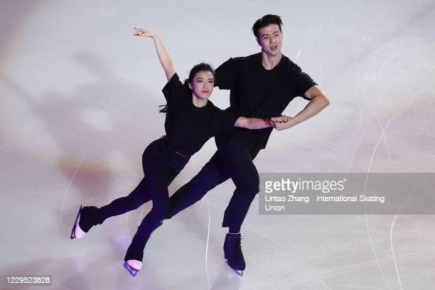 Wang Shiyue and Liu Xinyu of China perform in the gala exhibition on day three of the ISU Grand Prix of Figure Skating Cup of China at Huaxi Sports...