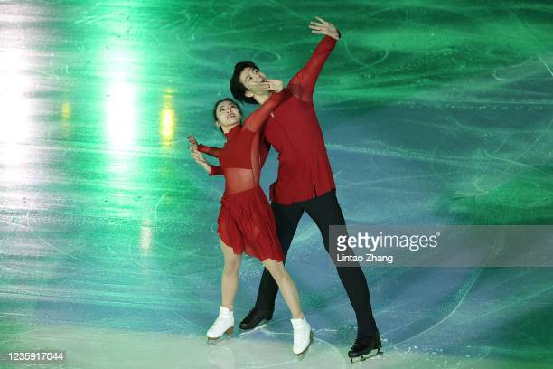 Wang Shiyue and Liu Xinyu of China performs in the gala exhibition during day 4 of the 2021 Asia Open Figure Skating test event for the Beijing 2022...