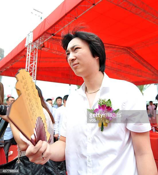 Wang Sicong, the son of Wanda Group Chairman Wang Jianlin, attends Wanda Plaza opening ceremony on September 1, 2011 in Xiamen, Fujian Province of...
