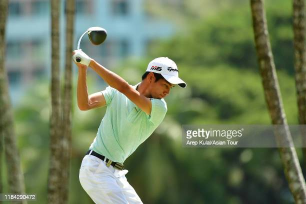 Wang Wei-lun of Chinese Taipei pictured during the final round of the Sabah Masters at Sutera Harbour Golf and Country Club on November 24, 2019 in...