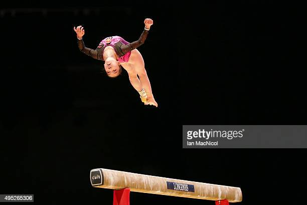 Wang Yan of China competes on the Beam during day ten of The World Artistic Gymnastics Championships at The SSE Hydro on November 01 2015 in Glasgow...