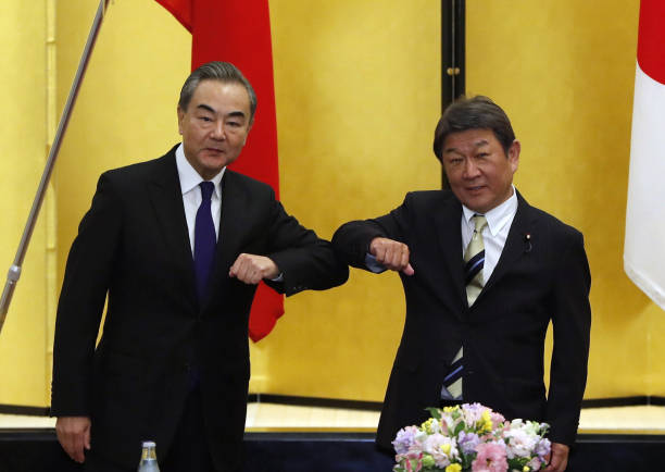 JPN: Chinese Foreign Minister Wang Yi Meets With Japanese Counterpart Toshimitsu Motegi