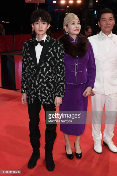 Wang Yuan Ai Liya and Zhao Yanguozhang arrive for the closing ceremony of the 69th Berlinale International Film Festival Berlin at Berlinale Palace...