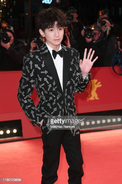 Wang Yuan arrives for the closing ceremony of the 69th Berlinale International Film Festival Berlin at Berlinale Palace on February 16 2019 in Berlin...
