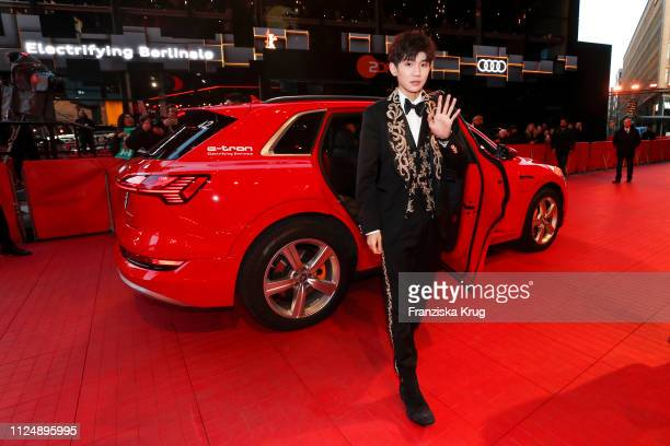 Wang Yuan arrives in the Audi etron car for the So Long My Son premiere during the 69th Berlinale International Film Festival Berlin at Berlinale...