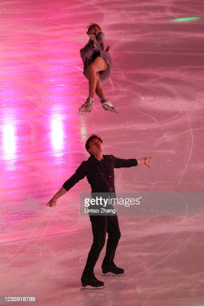 Wang Yuchen and Huang Yihan performs in the gala exhibition during day 4 of the 2021 Asia Open Figure Skating test event for the Beijing 2022 Winter...