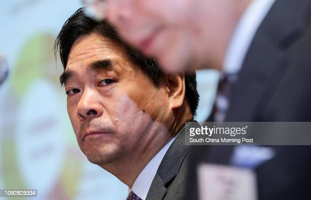 Wang Zhenhua, Chairman and Executive Director of Future Land Development Holdings Limited, speaks at 2016 Annual Result Announcement in Central....