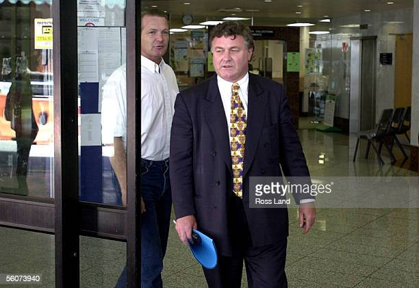 Wanganui man Mark Middleton leaves the Auckland District Court with his lawyer Keith Jefferies Tuesday Middleton is charged with five counts of...