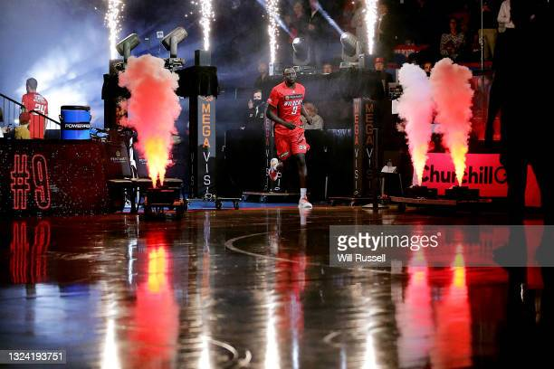 Wani Swaka Lo Buluk of the Wildcats runs out onto court during game one of the NBL Grand Final Series between the Perth Wildcats and Melbourne United...