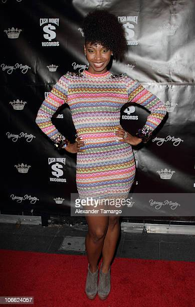 Wanita 'D Woods' Woodgett attends Lil Wayne Welcome Home party hosted by Cash Money Records on November 7 2010 in Miami Florida