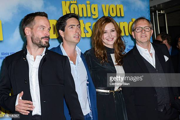 Wanja Mues David Dietl Katrin Bauerfeind and Olli Dittrich attend the 'Koenig von Deutschland' Berlin premiere at Kino International on August 27...
