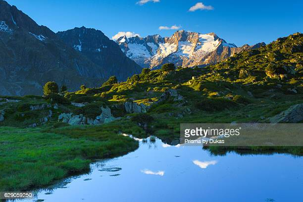 Wannenh_rner mountains in Valais Switzerland