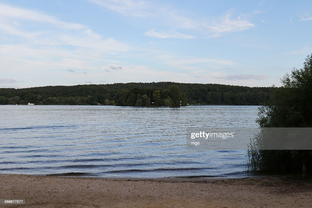 Wannsee at sunset : Stock Photo