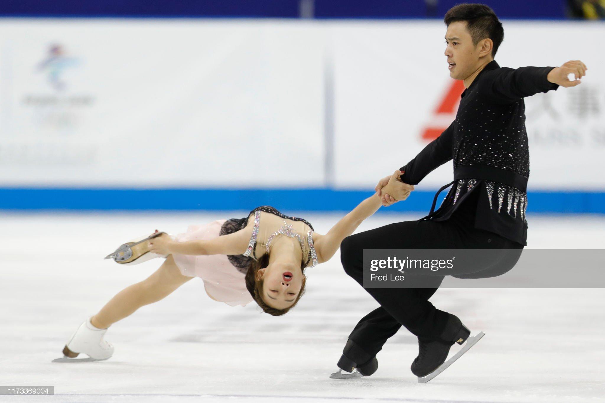 Shanghai Trophy (Invitational). 3-5 октября 2019. Шанхай (Китай) - Страница 3 Wanqi-ning-and-chao-wang-of-china-perform-in-the-pairs-short-program-picture-id1173369004?s=2048x2048