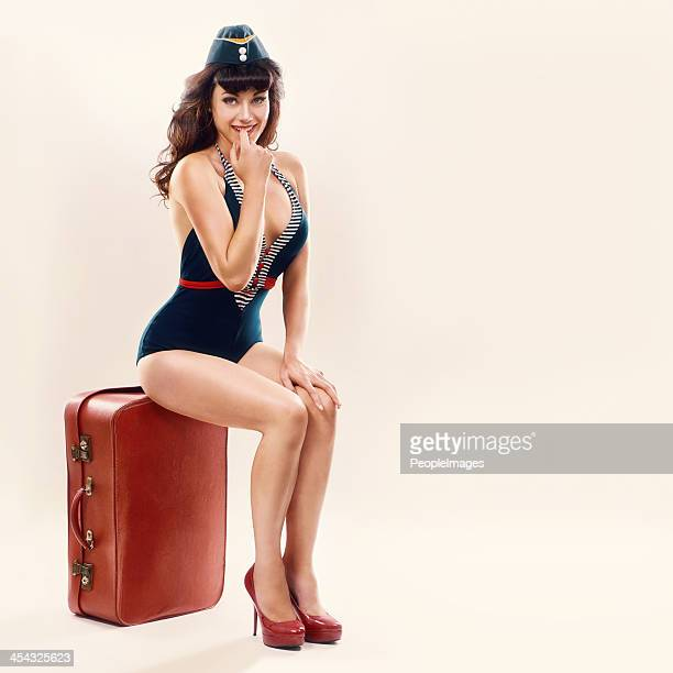 tu veux aller en vacances avec moi ? - pin up vintage photos et images de collection