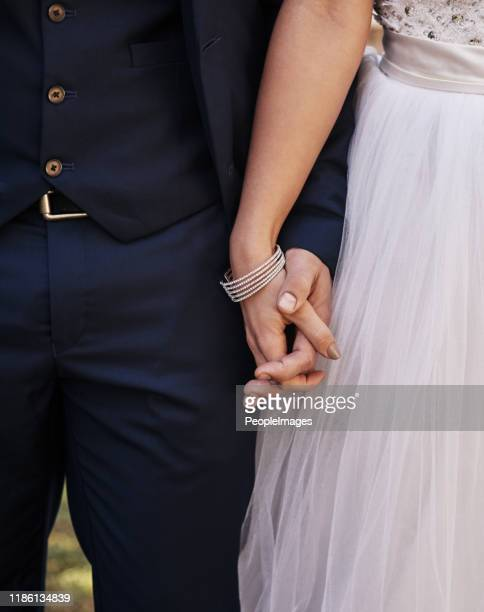 i want to live life hand in hand with you - wedding dress stock pictures, royalty-free photos & images