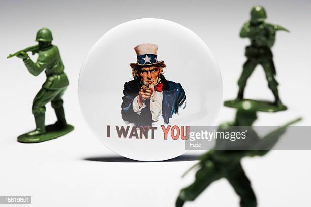 <I Want You> Button and Toy Soldiers