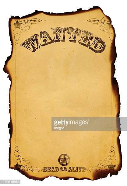 wanted dead or alive poster xxl - wanted poster stock photos and pictures
