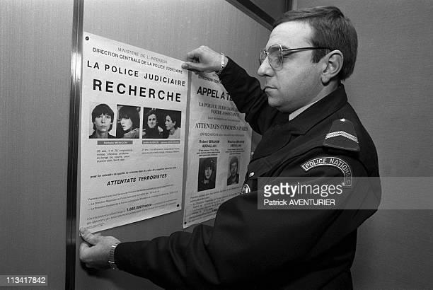 Wanted Nathalie Menigon Joelle Aubron Terrorist Action Direct On November 21st 1986 In ParisFrance