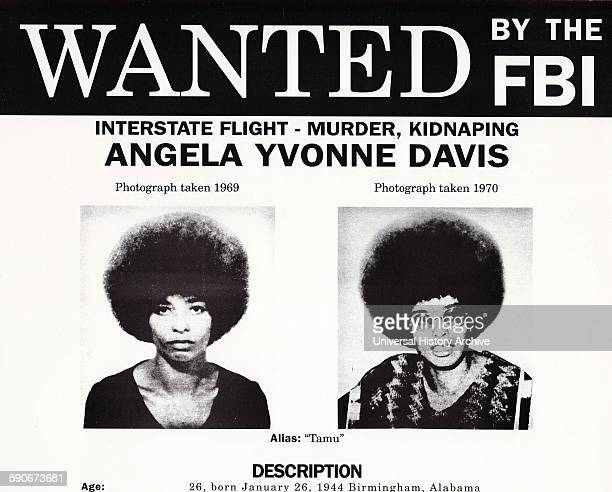 FBI Wanted poster for Angela Davis Angela Yvonne Davis is an American political activist scholar and author She emerged as a prominent counterculture...