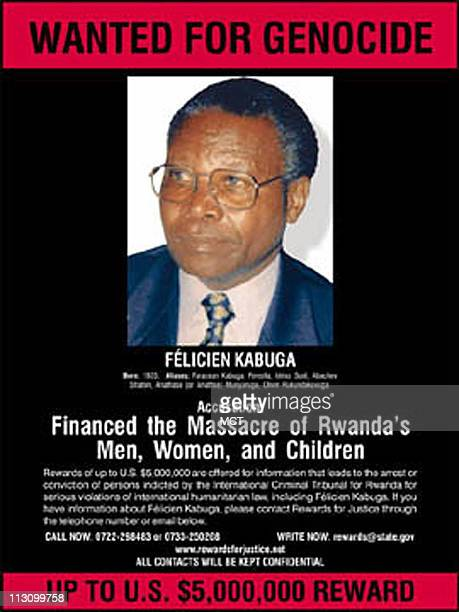 Wanted poster for Felicien Kabuga accused of genocide