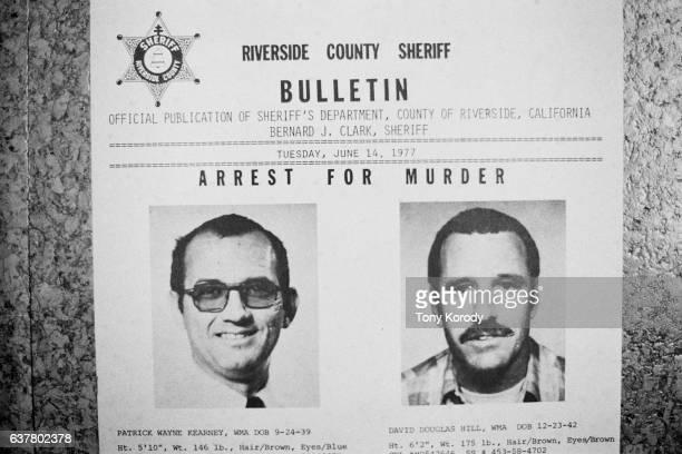 A wanted poster of California serial killers and lovers Patrick Wayne Kearney and David Douglas Hill