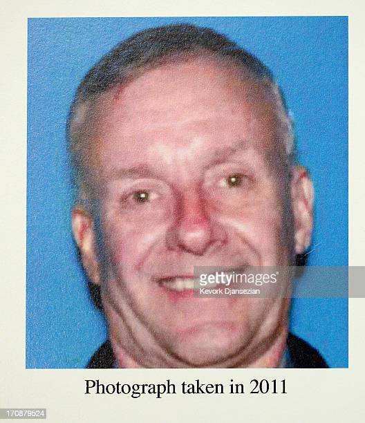 A wanted poster of former USC professor Walter Lee Williams is displayed during a news conference by Los Angeles Police Department Assistant Chief...