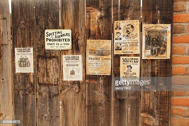 wanted posters western outlaws - wanted poster stock photos and pictures
