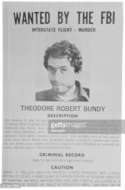 Wanted Sign of Ted Bundy.
