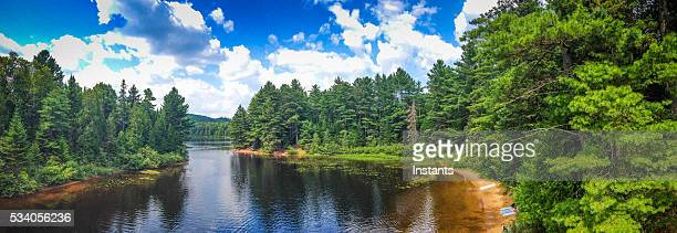 wapizagonke lake in mauricie national park - canadian culture stock pictures, royalty-free photos & images