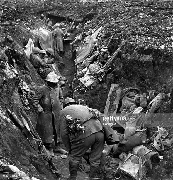 War 19141918 Battle of Verdun the French trench of the first line On 1916