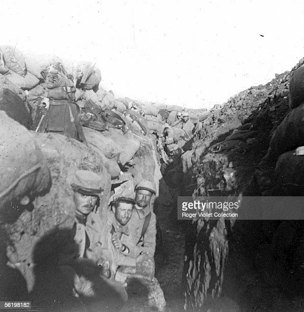 War 19141918 Trench of the first line August 1915