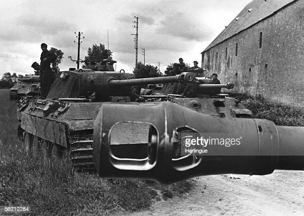 War 19391945 Front of Normandy German tanks 'Panther' preparing to counterattack june 1944