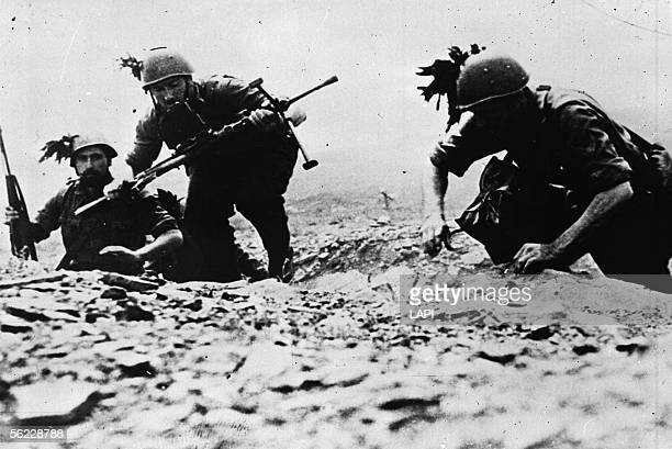War 19391945 Italian soldiers on the front of North Africa October 1942 Roger Viollet via Getty Images10956