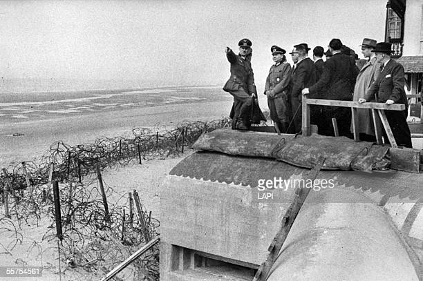 War 19391945 Visit of the Wall of the Atlantic Ocean by journalists May 1943 LAP14206