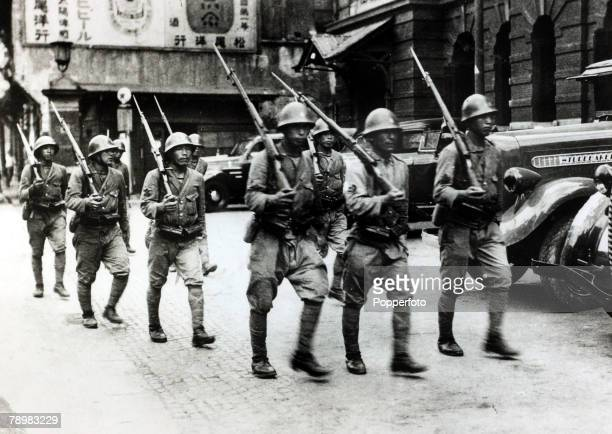 War and Conflict 2nd SinoJapanese War Japanese troops marching through Shanghai Following the two countries conflict at the end of the 19th century...