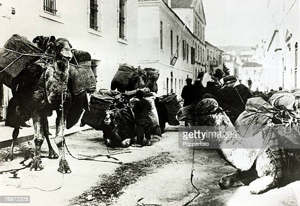 War and Conflict GreeceTurkey War 19211922 pic September 1922 Camels with provisions belonging to the Turkish army near Smyrna The war started when...