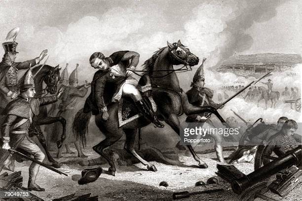 War and Conflict Illustration American War of Independence Battle of Trenton 26th December 1776 Colonel Rall of Hessian descent is killed fighting...