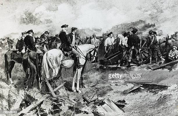 War and Conflict Illustration American War of Independence The Siege of Yorktown the British surrender effectively ended the revolutionary war
